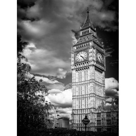 Big Ben - City of London - UK - England - United Kingdom - Europe - Black and White Photography Print Wall Art By Philippe Hugonnard - London England Halloween