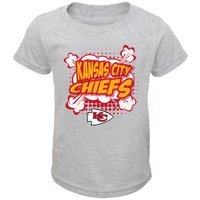 091f82b9af1 Product Image Infant Heathered Gray Kansas City Chiefs Crew Neck T-Shirt