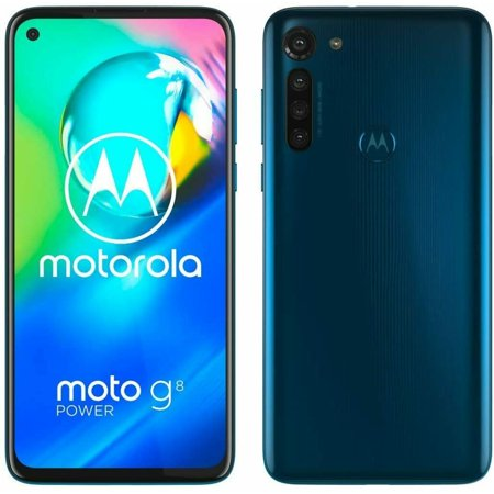 Motorola Moto G8 Power XT2041-1 64GB Hybrid Dual SIM GSM Unlocked Android SmartPhone - Capri Blue