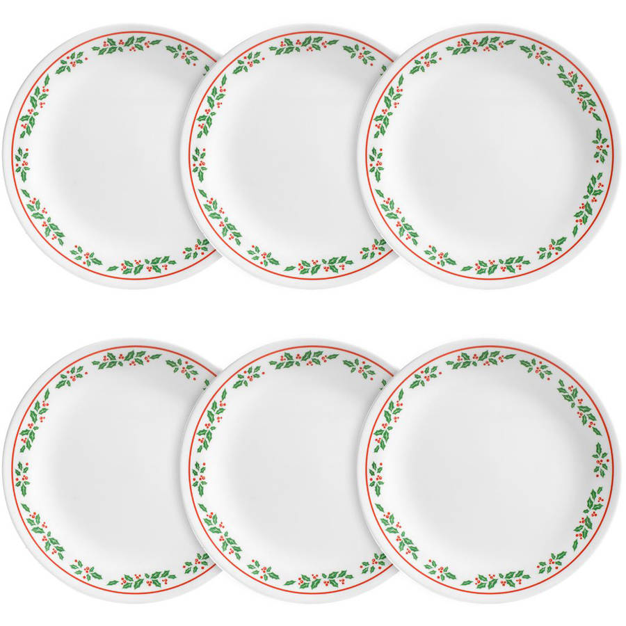 Corelle Livingware Lunch Plate, Winter Holly, Set of 6