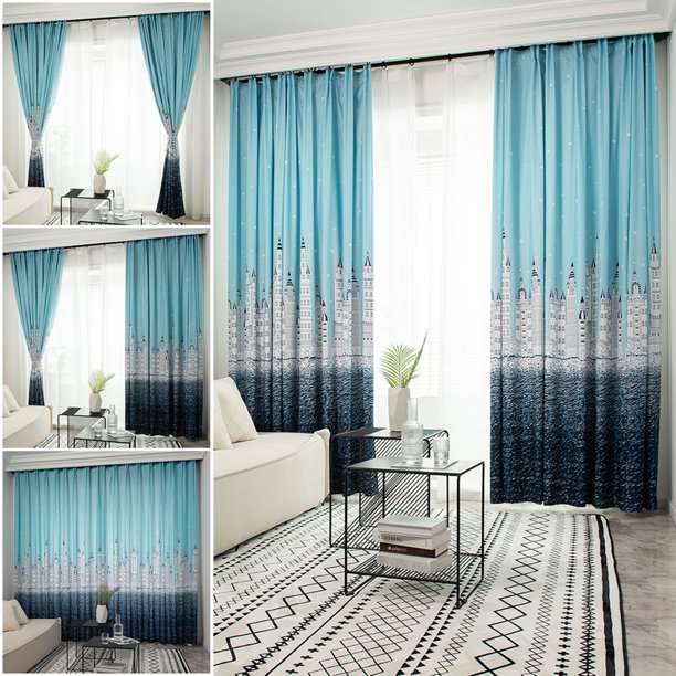 Modern Curtain For Bedroom Window Drapes Treatment Semi Blackout Curtains Fashion Home Decor Us Walmart Com Walmart Com