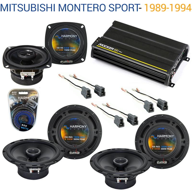 Mitsubishi Montero Sport 97-04 OEM Speaker Upgrade Harmony Speakers & CX300.4 - Factory Certified Refurbished