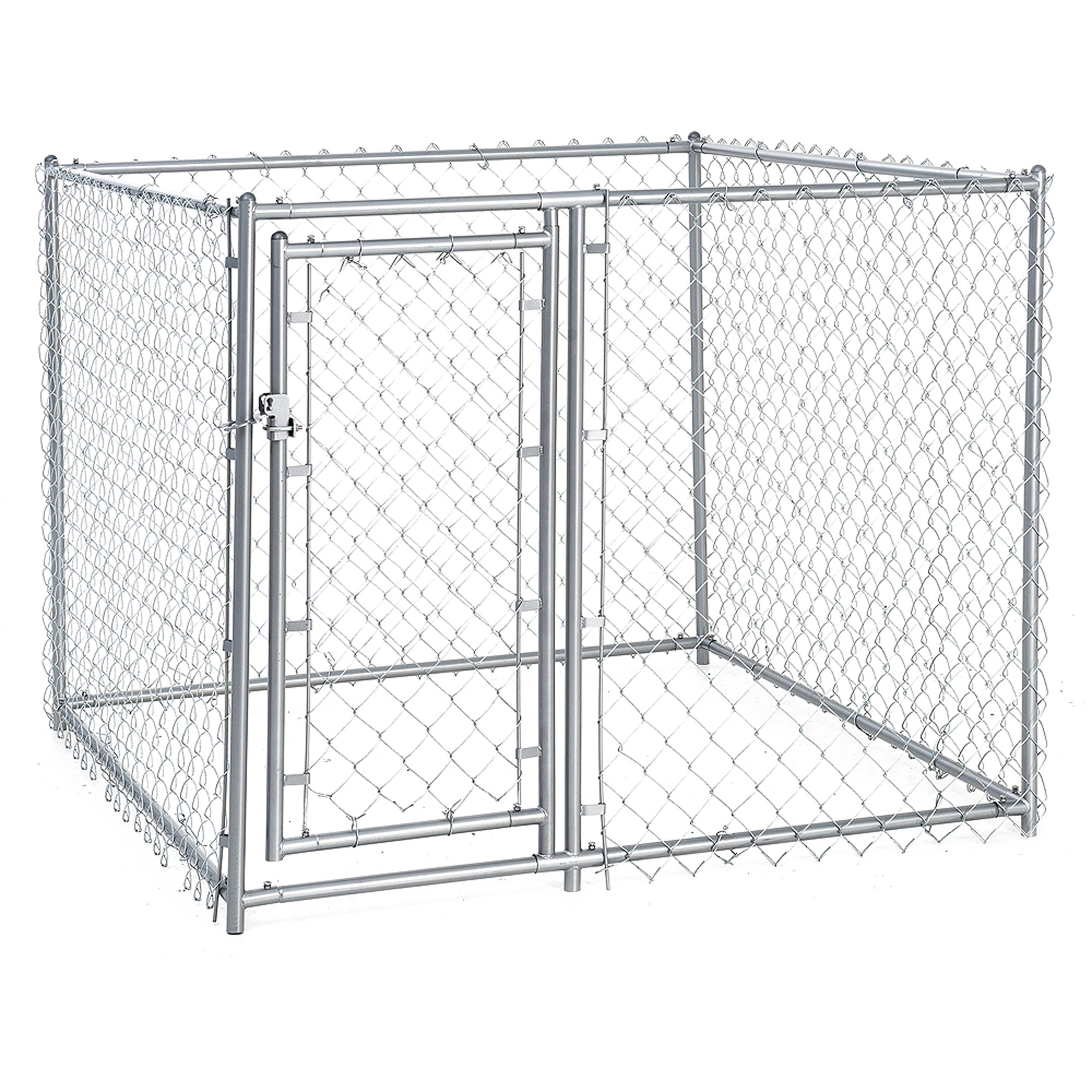 Lucky Dog 4'H x 5'W x 5'L Galvanized Chain Link, Modular PC'd Frame