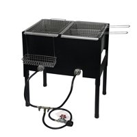 Barton High-Pressure Freestanding Triple Basket Deep Fryer Dual Burner Propane Fish Cooker Fry Basket Fryer