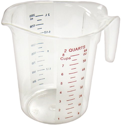 Winco Measuring Cup, Polycarbonate, 2-Quart by China