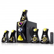 beFree Sound 5.1 Channel Surround Sound Bluetooth Speaker System- Yellow - image 1 de 1