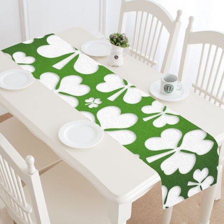 Shamrock Table Decorations (MKHERT Shamrock Table Runner for Wedding Party Banquet Decoration 14x72)
