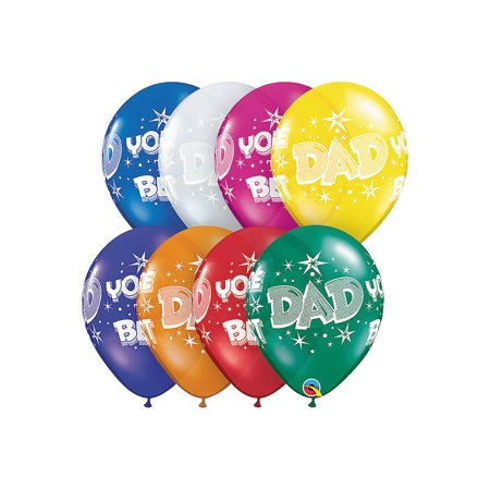 Fun Express - Dad You're The Best Balloon Assortment for Father's Day - Party Decor - Balloons - Mylar Balloons - Father's Day - 50