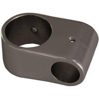 Decor Plumbing Shower Rod Double Eyeloop Connection, Polished Chrome