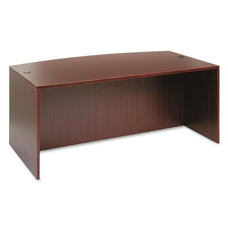 Alera Valencia Bow Front Desk Shell, 71w x 35 1/2d to 41 3/8d x 29 5/8h - Mira Bow Front Desk