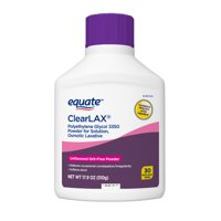 Equate Polyethylene Glycol 3350 Powder for Solution, Osmotic Laxative 30 Doses