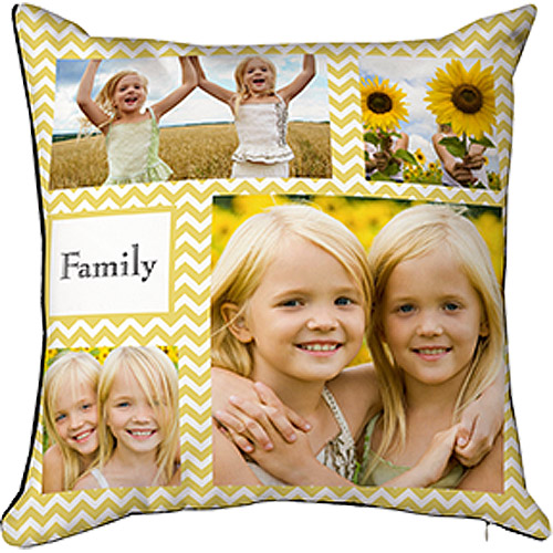 16x16 Photo Throw Pillow with Hidden Zipper