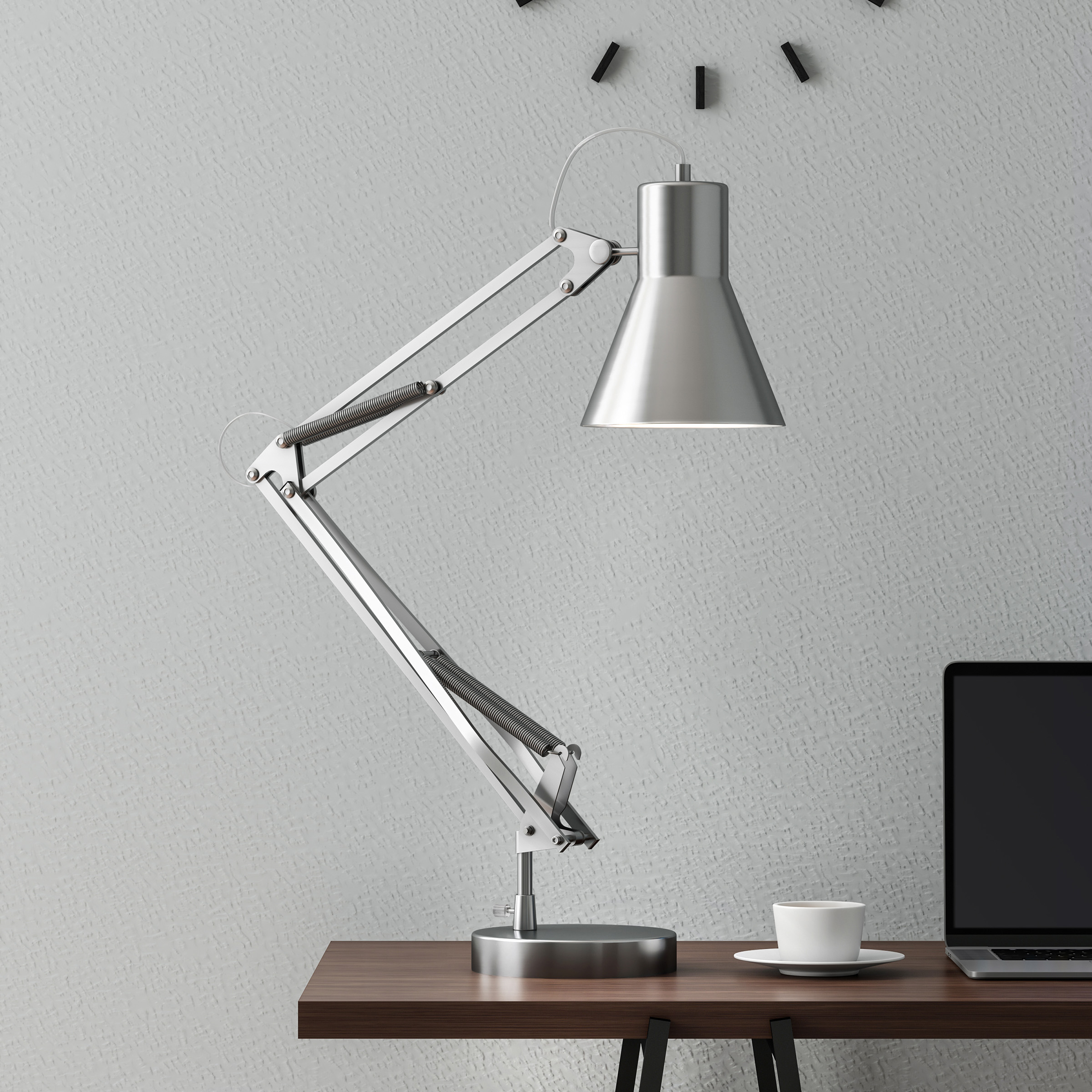 Architect Desk Lamp- LED Task Light with Adjustable Swing Arm for Home and Office- Includes Energy Efficient Light Bulb... by Trademark Global LLC
