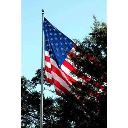 Patriotic Strips - LAMINATED POSTER Stars Stripes America Patriotic Flag American Flag Poster Print 24 x 36