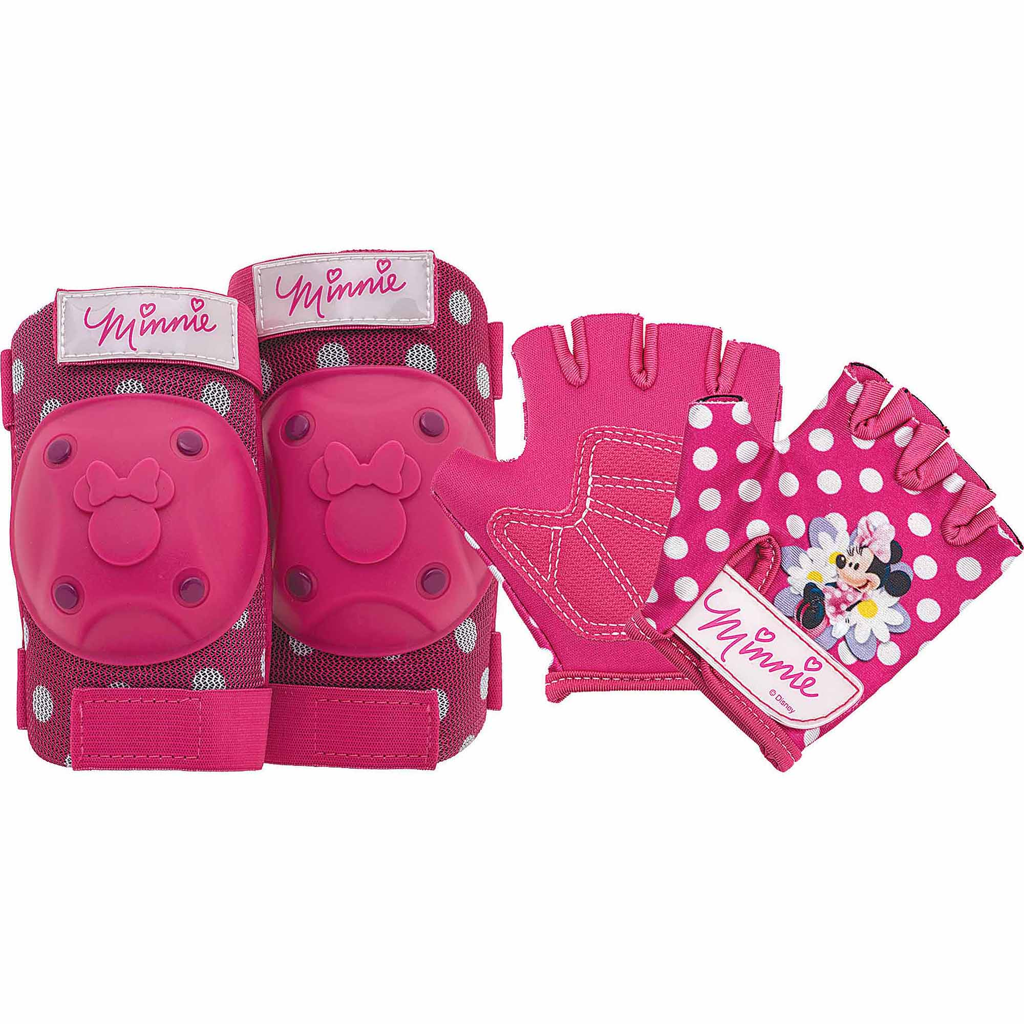 Disney Minnie Mouse Protective Pad and Glove Set, Pink by Bell Sports