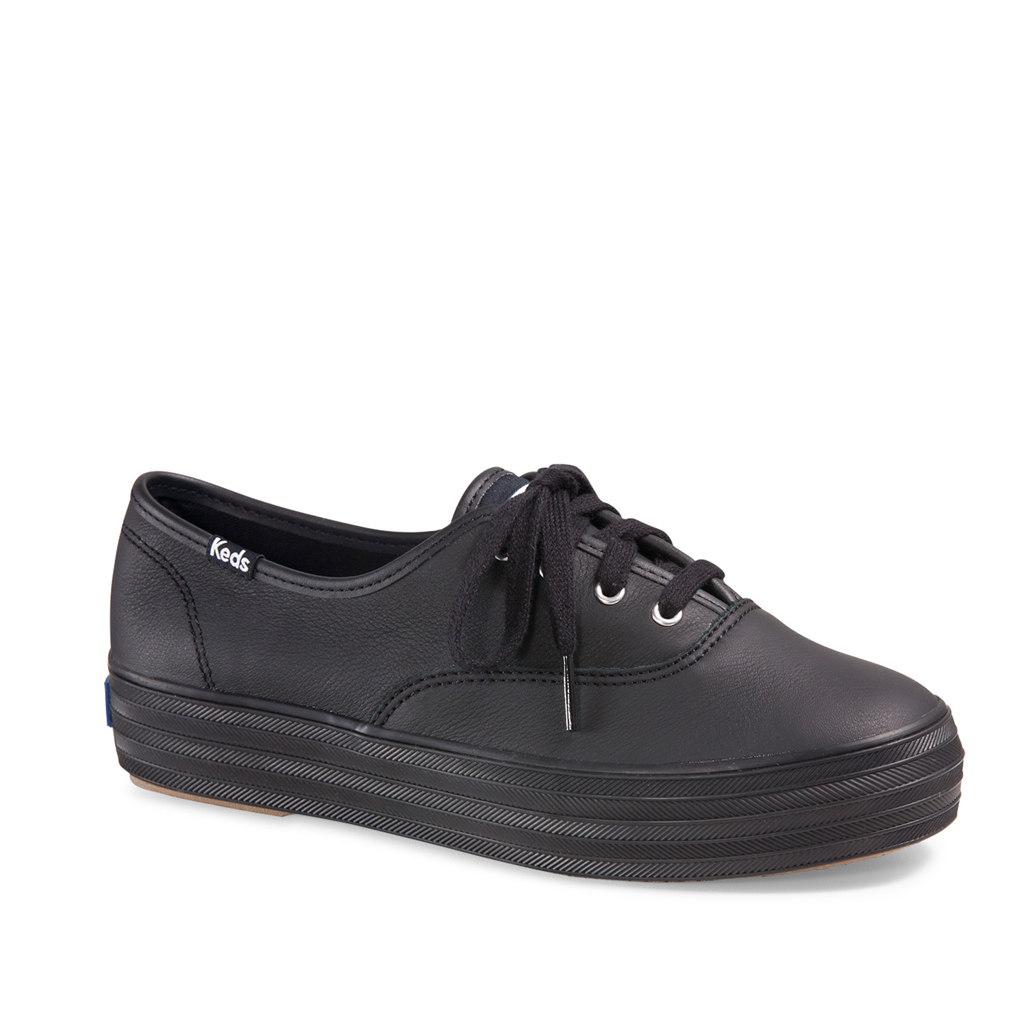 ccecd22346594 Keds Women s Triple Leather in Black Black