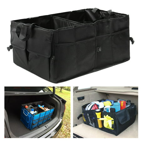 Foldable Car Auto Back Rear Trunk Seat Big Storage Bag Pocket Organizer reserve storage box Hanger Holder