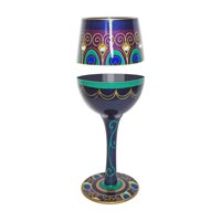 Gift Essentials 15 oz. Peacock Wine Glass