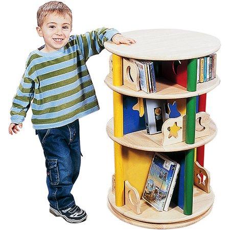 guidecraft book and bin storage guidecraft moon stars kids childrens media carousel walmartcom