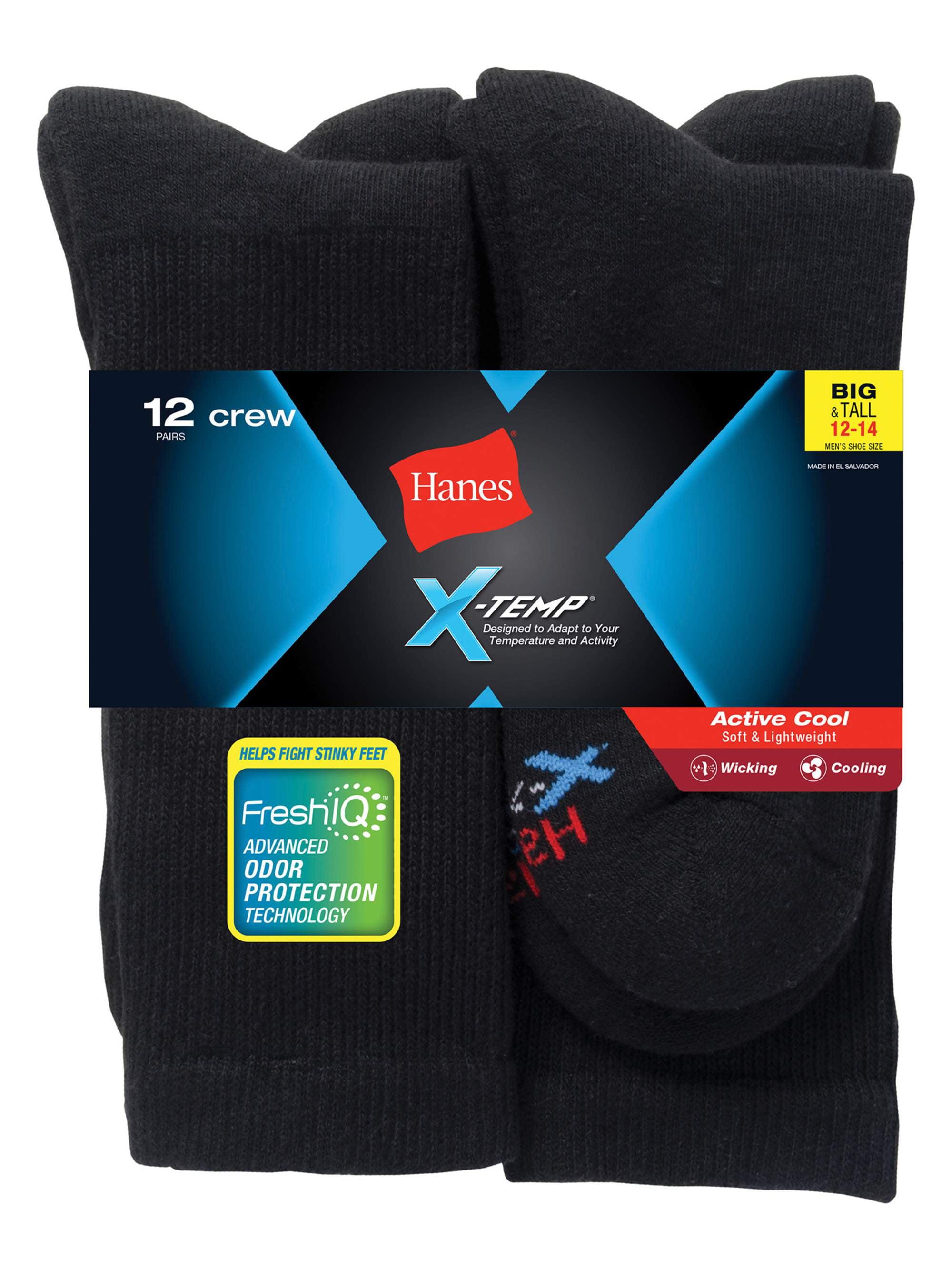 Men's Big & Tall X-Temp Crew Socks 12 Pack
