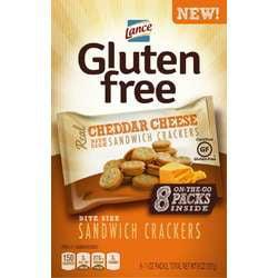 Snyder's - Lance Lance Gluten Free Sandwich Crackers, Cheddar Cheese, 1 oz, 8 Count Box