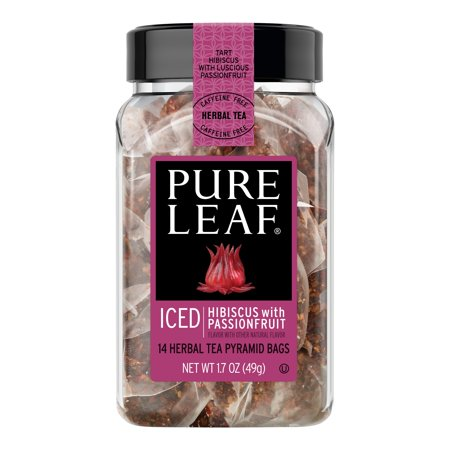 Pure Leaf Iced Herbal Tea Bags Hibiscus with Passionfruit 14 ct