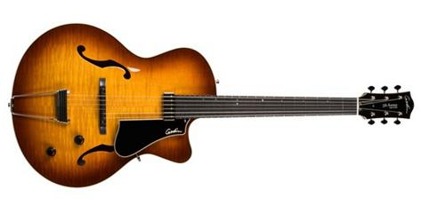 Click here to buy Godin 5th Avenue Jazz Archtop Hollow Body Electric Guitar (Sunburst) by Godin.