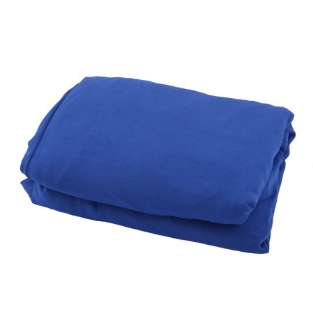 Party Banquet Spandex Round 4 Legs Cocktail Table Chair Cover Dark Blue 90cm Dia