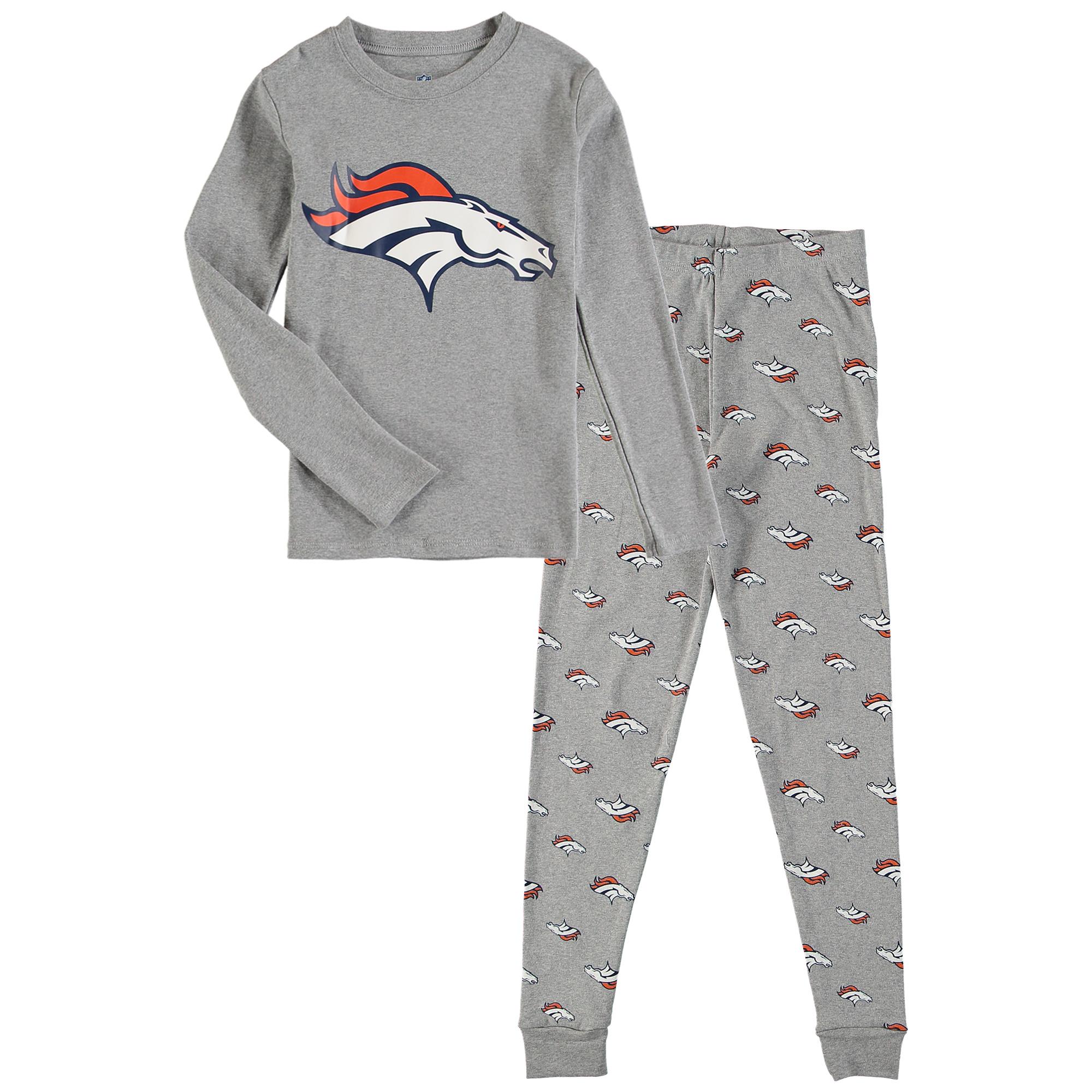 OuterStuff NFL Kids Denver Broncos Long Sleeve Tee & Pant Sleep Set