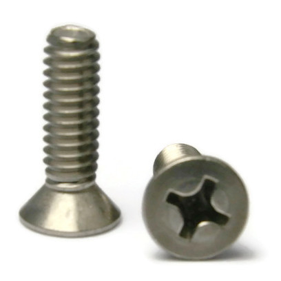 "#10-24 x 5/8"" Phillips Flat Head Stainless Steel Machine Screw QTY 1,000"