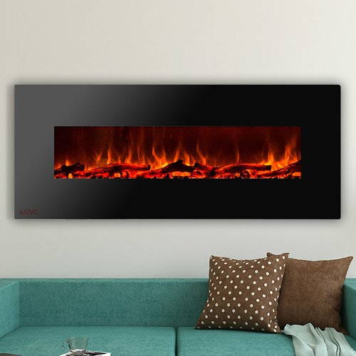 IGNIS Products Royal Wall Mounted Electric Fireplace with...