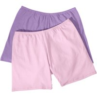 Comfort Choice Plus Size 2-pack Cotton Fitted Boxer Boyshort