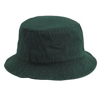 Paperboy Hats Wholesale (Wholesale 12 x OTTO Garment Washed Cotton Twill Bucket Hat - Dk. Green - (12)
