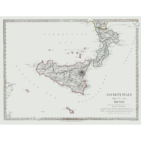 Map Of Ancient Italy Regions.International Map Southern Ancient Italy Society 1830 29 92 X