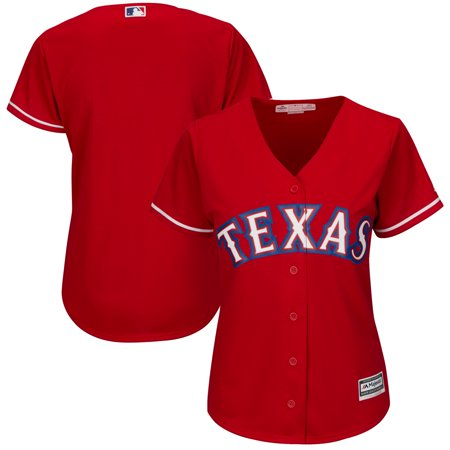 Texas Rangers Majestic Women's Alternate Cool Base Replica Team Jersey - Scarlet