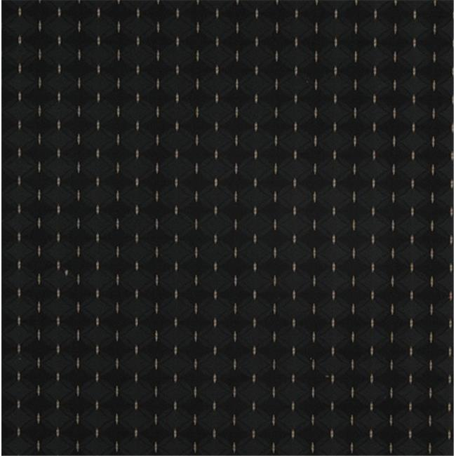 Designer Fabrics A416 54 in. Wide Black And Tan Elegant Diamond And Lines Upholstery Fabric