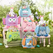Personalized Furry Friend Easter Basket - Choose from 6 Characters-With Candy