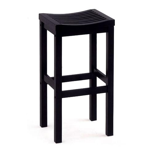 "Home Styles Solid Wood Bar Stool 29"", Black"
