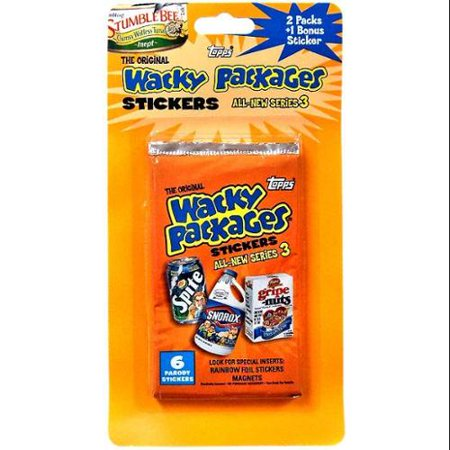 Wacky Packages Series 3 Trading Card Blister Pack Trading Card Stickers