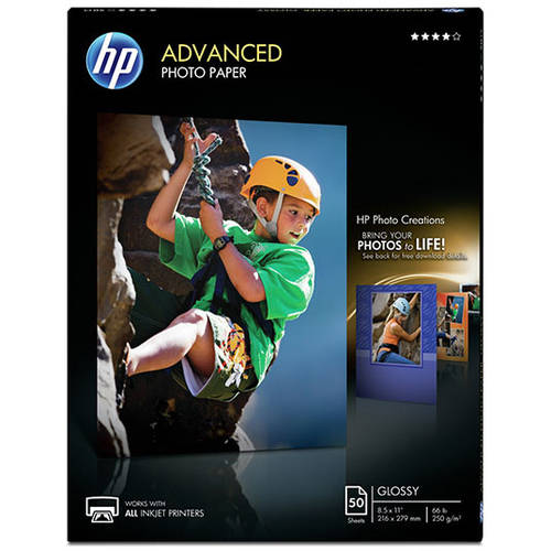 HP Advanced Photo Paper, Glossy (50 sheets, 8.5 x 11-inch)