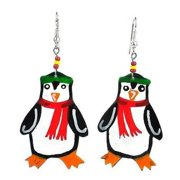 Creative Alternatives Painted Penguin Earrings