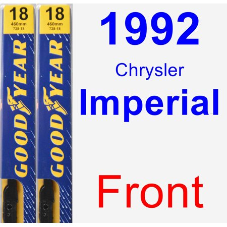 1992 Chrysler Imperial Wiper Blade Set/Kit (Front) (2 Blades) - Premium