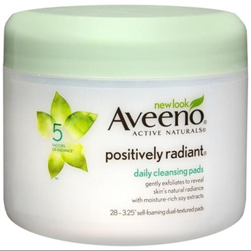 AVEENO Active Naturals Positively Radiant Daily Cleansing Pads 28 Each (Pack of 6)