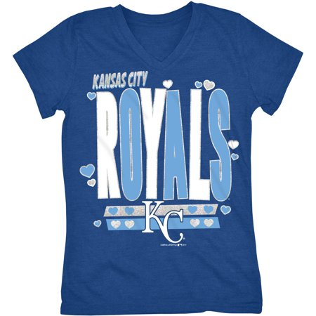 Windy City Baseball (MLB Kansas City Royals Girls Short Sleeve Team Color Graphic)