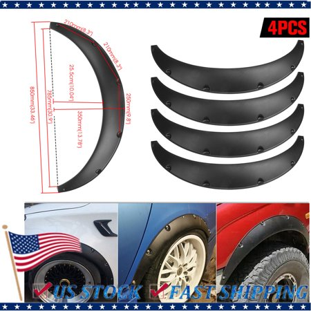 "Universal 4pcs PP 2.75""/70mm Fenders Flares JDM Over Wide Body Wheel Arches"