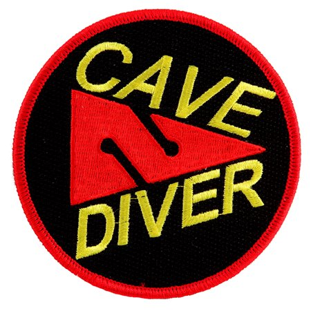 Cave Diver Embroidered Iron-on Scuba Diving Patch