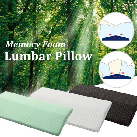 Memory Foam Sleeping Pillow Lower Back Pain Orthopedic Lumbar Support Foot (Lower Back Pain From Sleeping On My Back)