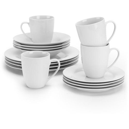 ten strawberry street simply white round 32piece dinnerware set - White Dinnerware Sets