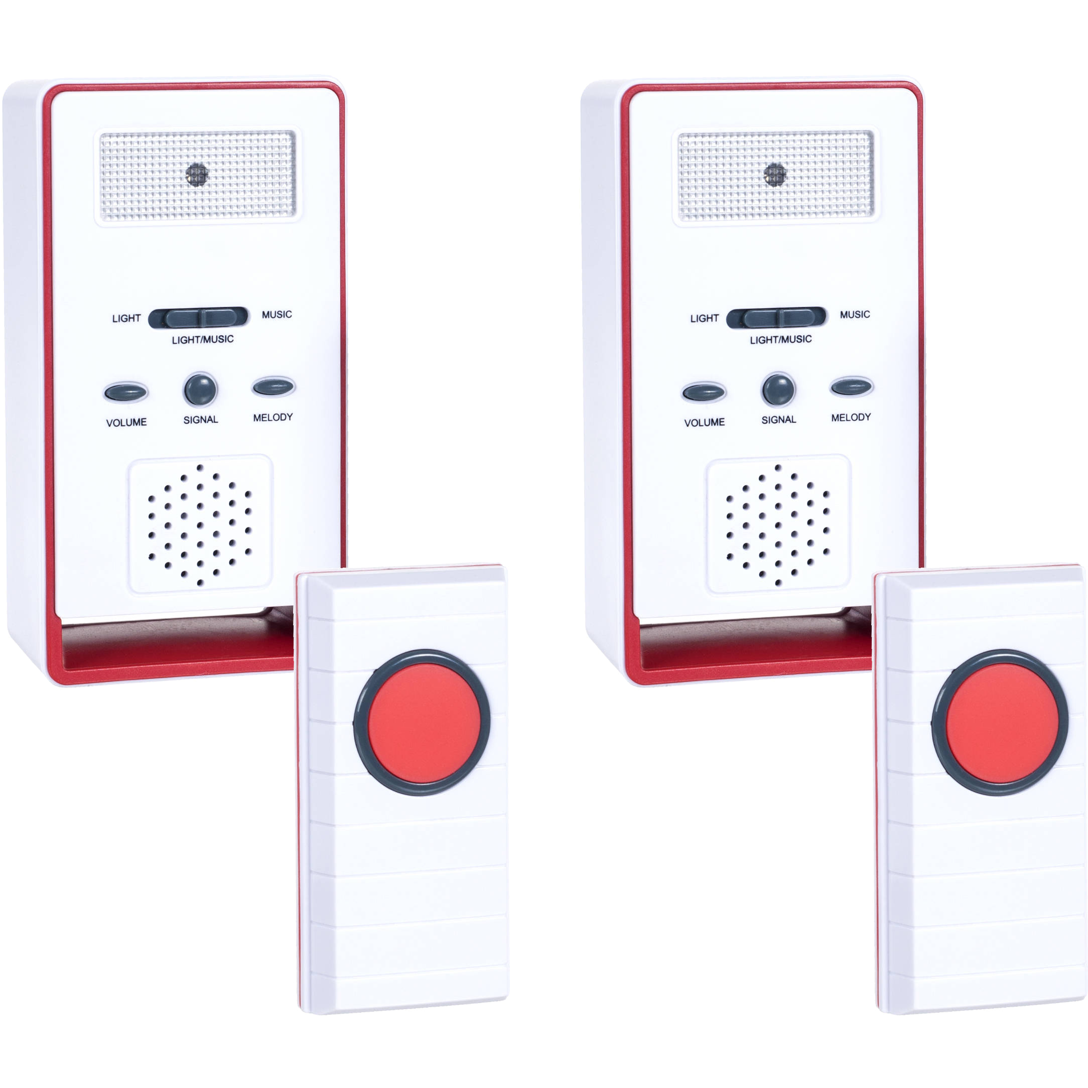 Stalwart Wireless Remote Doorbell Chime and Push Button, 2 pack