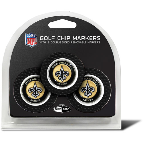 Team Golf NFL New Orleans Saints 3 Pack Golf Chip Ball Markers